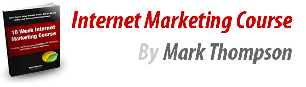 Free internet marketing course by Mark Thompson