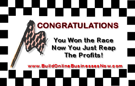 congratulations traffic generation race