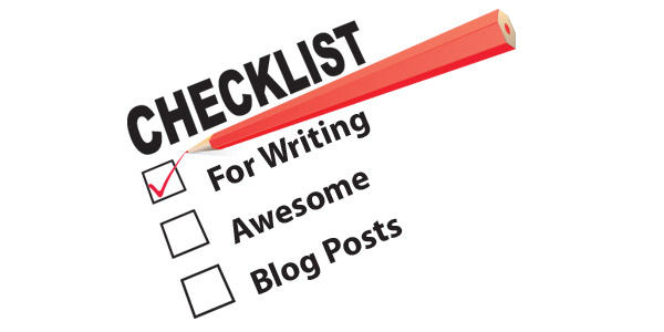 checklist writing blog posts