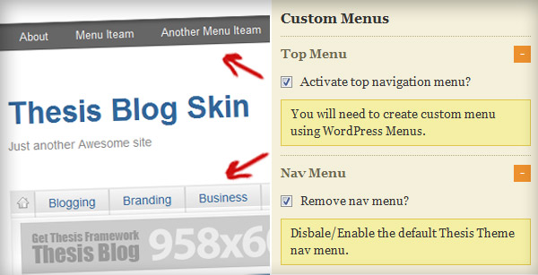 custom wordpress menus
