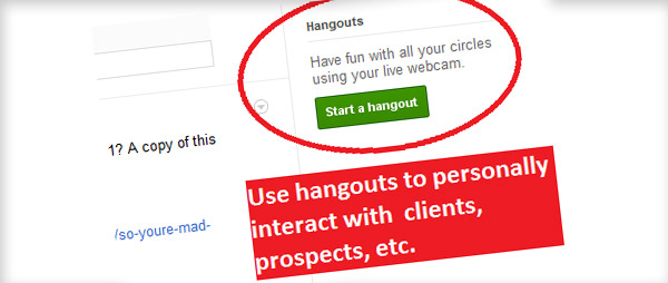 Utilizing hangouts for Google+