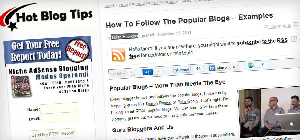 How To Follow The Popular Blogs