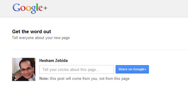 spread the word google plus page
