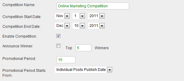 Customize each blog contest the way you like