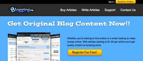 Blogging - Buy Articles - Write Articles - Freelance Writers | Blogging.org