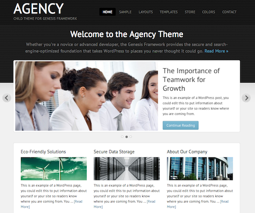 agency theme by Studiopress
