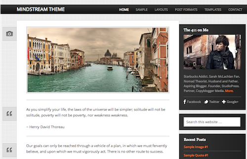 mindstream theme by Studiopress