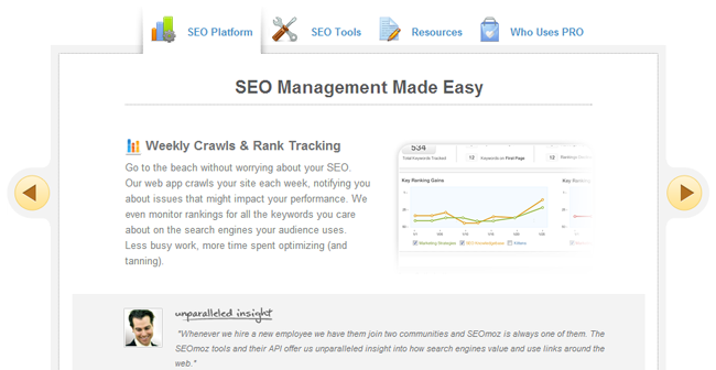 SEO Management with SEOmoz