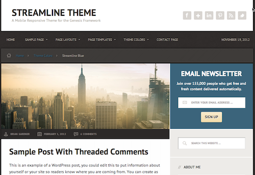 streamline theme by Studiopress