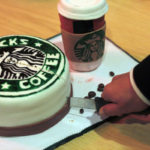 cut startbucks cake