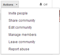 google plus community actions
