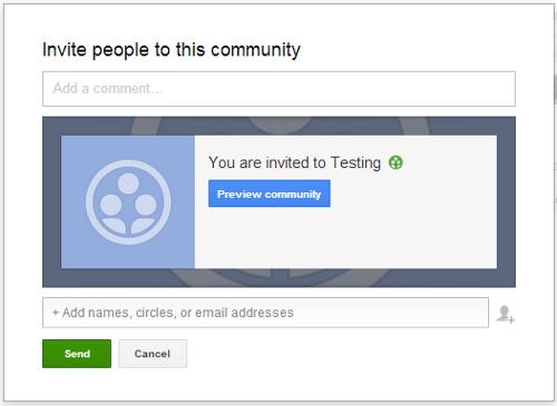 google plus community invite