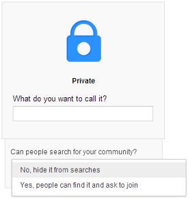 google plus private communities
