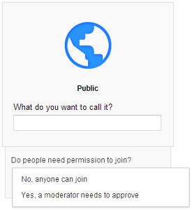 google plus public community setup