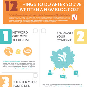 Blog Post Promotion Infographic